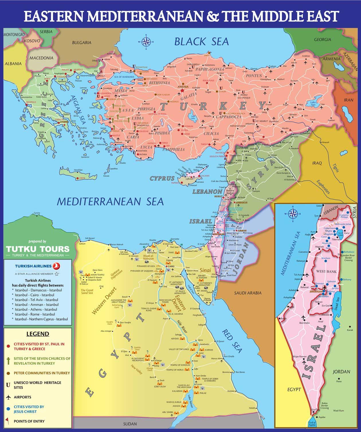 map of the eastern mediterranean modern
