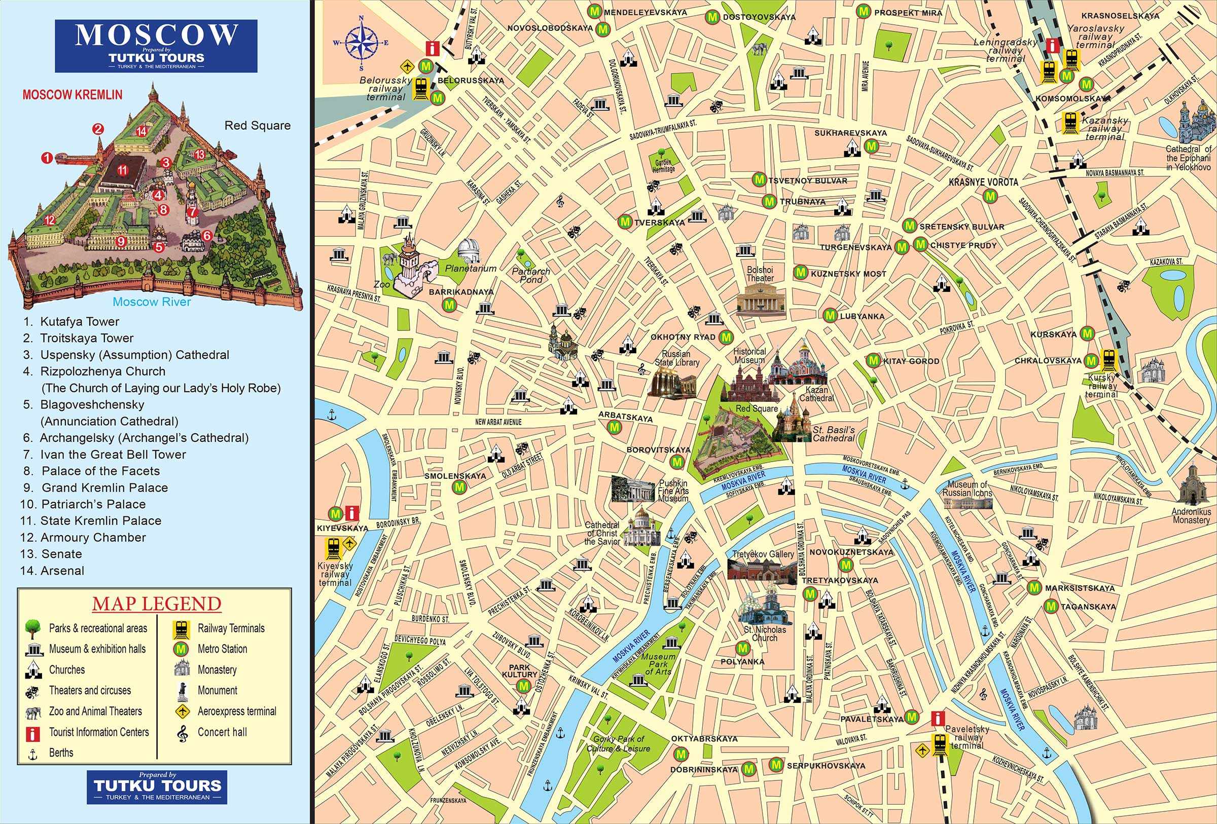 TUTKU TOURS - MOSCOW & ST. PETERSBURG MAP