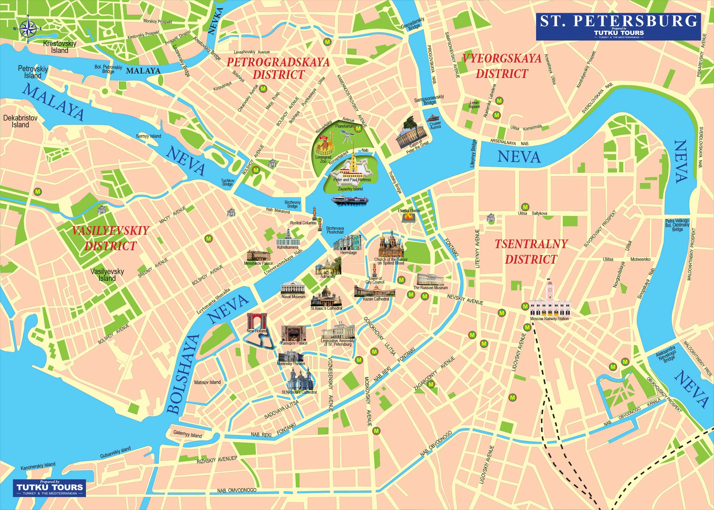 TUTKU TOURS - MOSCOW & ST. PETERSBURG MAP